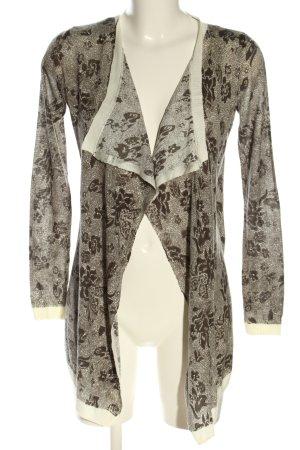Only Cache-cœur en tricot brun-blanc cassé motif abstrait style décontracté