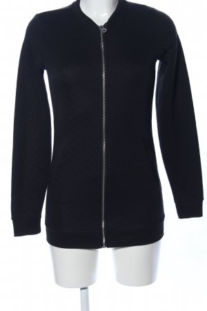 Only Sweatjacke schwarz Steppmuster Casual-Look