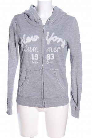 Only Sweat Jacket light grey flecked casual look