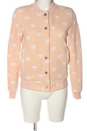 Only Sweatjack nude-wit volledige print casual uitstraling