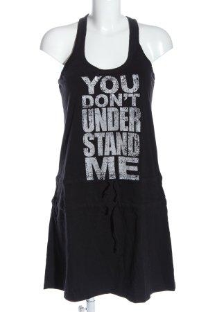 Only Vestido de tela de sudadera negro letras impresas look casual