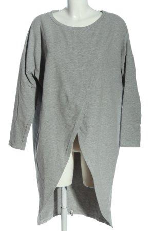 Only Vestido de tela de sudadera gris claro moteado look casual