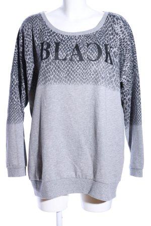 Only Sweatshirt hellgrau Animalmuster Casual-Look