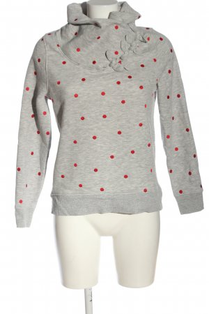 Only Sweatshirt hellgrau-rot Allover-Druck Casual-Look