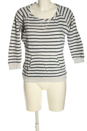 Only Sweatshirt weiß-blau Allover-Druck Casual-Look