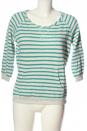 Only Sweatshirt hellgrau-grün meliert Casual-Look