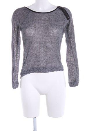 Only Sweatshirt hellgrau meliert Casual-Look