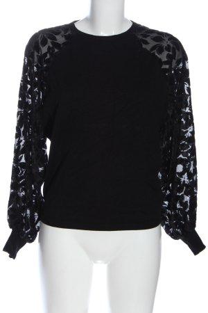Only Sweatshirt schwarz Blumenmuster Casual-Look