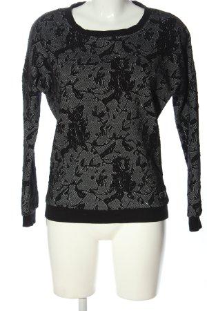 Only Sweatshirt schwarz-weiß abstraktes Muster Casual-Look