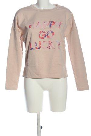 Only Sweatshirt pink Schriftzug gedruckt Casual-Look