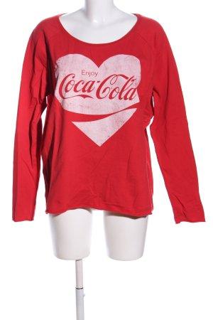 Only Sweatshirt rot-pink Motivdruck Casual-Look