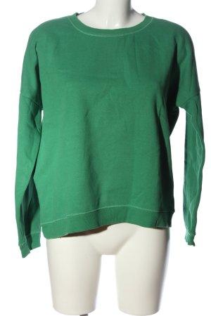 Only Sweatshirt grün Casual-Look