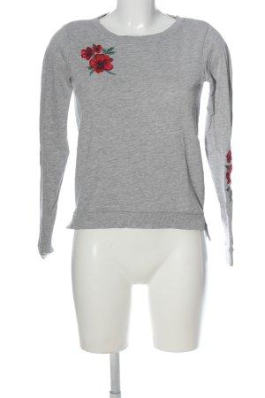 Only Sweatshirt Blumenmuster Casual-Look