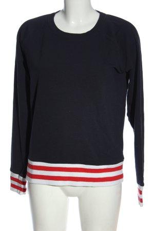 Only Sweatshirt Streifenmuster Casual-Look