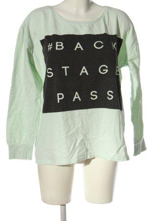 Only Sweatshirt grün-schwarz Motivdruck Casual-Look