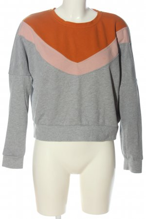 Only Sweatshirt hellgrau-hellorange meliert Casual-Look
