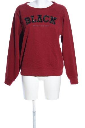Only Sweatshirt rot Schriftzug gedruckt Casual-Look