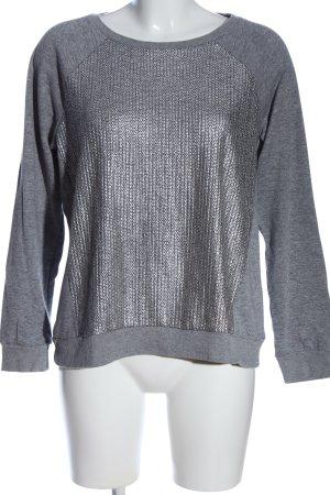 Only Sweatshirt hellgrau-silberfarben meliert Casual-Look