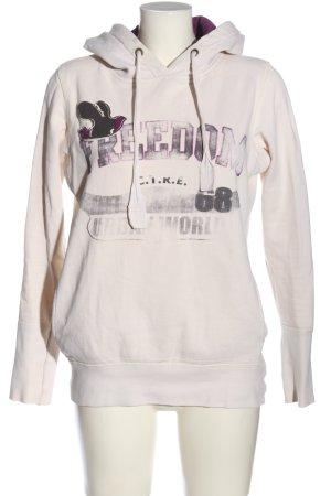 Only Sweatshirt pink-schwarz Schriftzug gedruckt sportlicher Stil