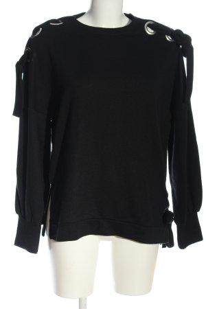 Only Sweatshirt schwarz Casual-Look
