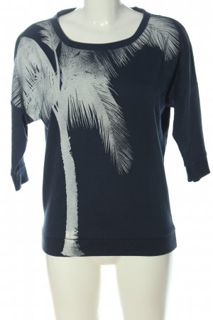 Only Sweatshirt blau-hellgrau Motivdruck Casual-Look