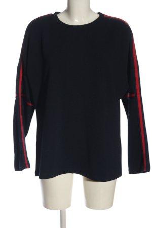 Only Sweatshirt blau-rot Casual-Look
