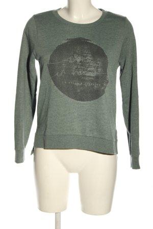 Only Sweatshirt khaki-hellgrau Motivdruck Casual-Look
