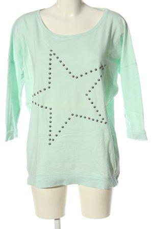 Only Sweatshirt grün Motivdruck Casual-Look