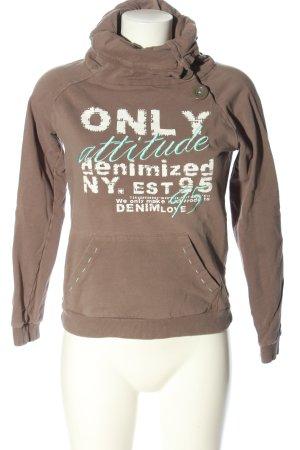 Only Sweatshirt Schriftzug gedruckt Casual-Look