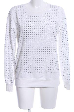 Only Sweatshirt weiß-silberfarben Casual-Look