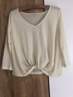 Only Cropped shirt sleutelbloem-wit
