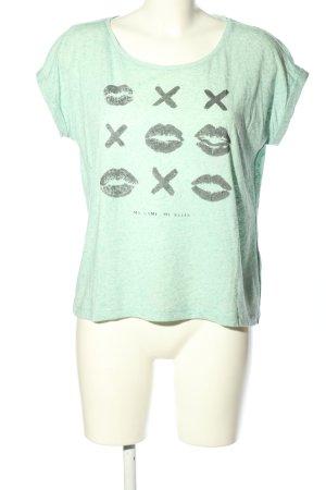 Only T-Shirt grün-schwarz meliert Casual-Look
