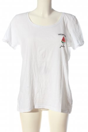 Only T-Shirt weiß Schriftzug gedruckt Casual-Look