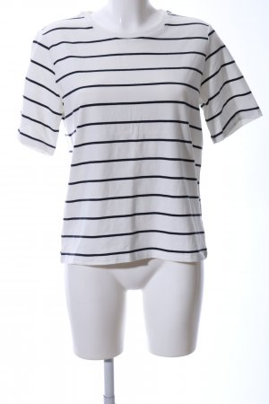 Only T-Shirt weiß-schwarz Streifenmuster Casual-Look