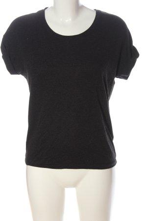 Only T-Shirt schwarz meliert Casual-Look