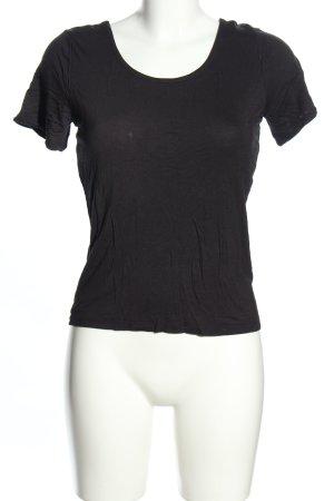 Only T-shirt czarny W stylu casual