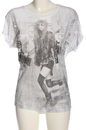 Only T-Shirt weiß Motivdruck Casual-Look