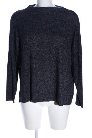 Only T-Shirt schwarz-hellgrau meliert Casual-Look
