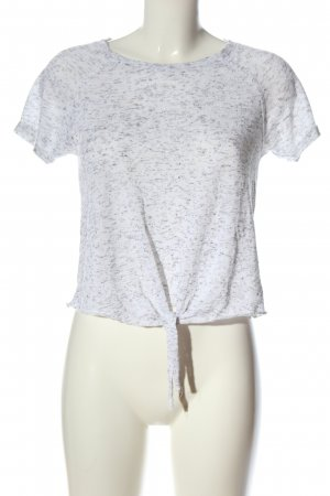 Only T-Shirt white-light grey flecked casual look