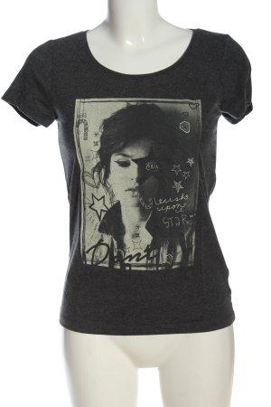 Only T-Shirt hellgrau-weiß Motivdruck Casual-Look
