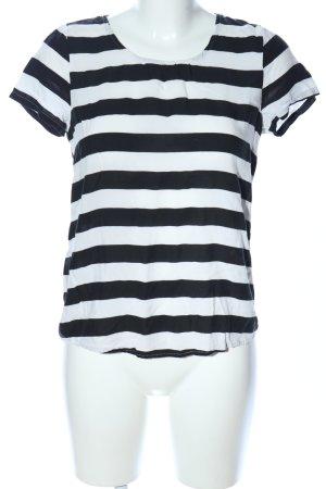 Only T-Shirt schwarz-weiß Streifenmuster Casual-Look