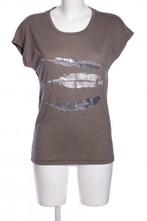 Only T-Shirt lila meliert Casual-Look