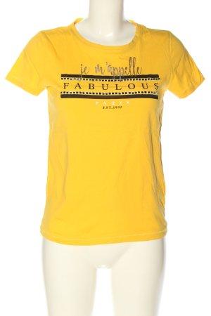Only T-Shirt Schriftzug gedruckt Casual-Look