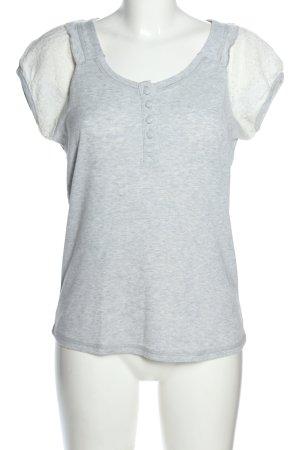Only T-Shirt hellgrau meliert Casual-Look