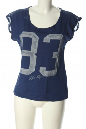 Only T-Shirt blau-hellgrau Motivdruck Casual-Look