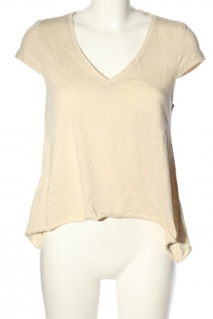 Only T-Shirt creme meliert Casual-Look