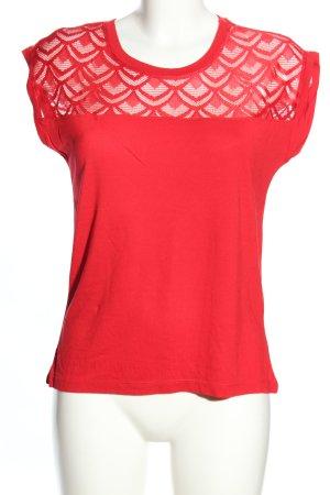 Only T-shirt czerwony W stylu casual