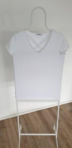 Only V-Neck Shirt white