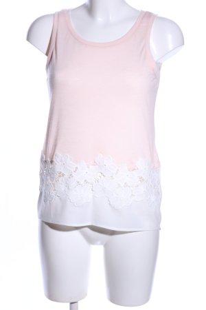 Only Tanktop roze-wit bloemenprint casual uitstraling