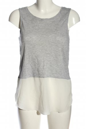 Only Camiseta sin mangas gris claro-blanco puro moteado look casual